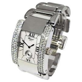Chopard La Strada 41/7092 18K White Gold & Diamond Mother Of Pearl Roman Dial Quartz 32mm Womens Watch
