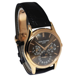 Patek Philippe 5140R Perpetual Calendar 18K Rose Gold & Leather Automatic 37mm Mens Watch