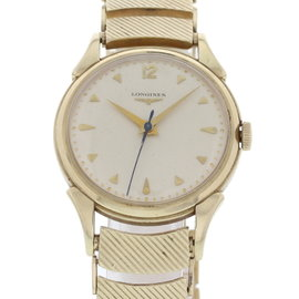 Longines Wittnauer 14K Yellow Gold White Dial Manual Vintage 34mm Mens Watch