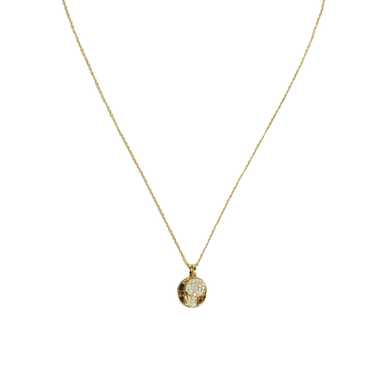 "Image of ""Ippolita 18K Yellow Gold and Diamond Disc Pendant Senso Necklace"""