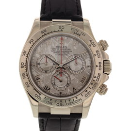 Rolex Daytona Cosmograph 116519 Stainless Steel & Leather Meteorite Dial Automatic 40mm Mens Watch