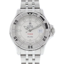 Tudor Prince Date 89190 Stainless Steel White Dial Automatic 41mm Mens Watch