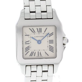 Cartier Santos Demoiselle 2698 Stainless Steel White Dial Quartz 20mm Womens Watch
