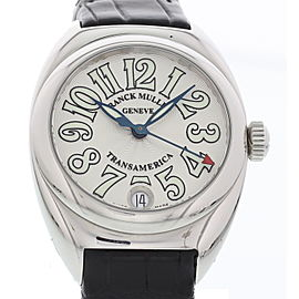 Franck Muller Transamerica 2000L Stainless Steel & Leather Quartz 33mm Womens Watch
