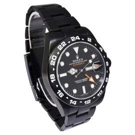 Rolex Explorer II 216570 Black Steel PVD 42mm Mens Watch 2014
