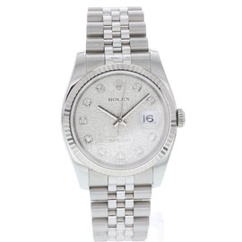 Rolex Datejust 116234 Stainless Steel White Diamond Dial Automatic 36mm Mens Watch