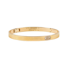 Hermes 18K Yellow Gold Diamond