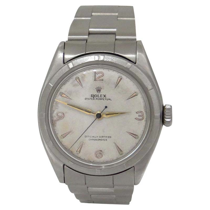 """Image of """"Rolex Oyster Perpetual 6085 Stainless Steel White Dial Automatic"""""""