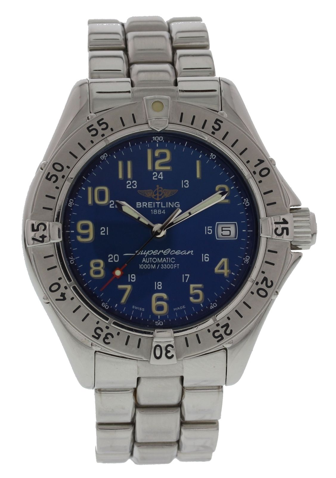 """Image of """"Breitling Superocean A17040 Stainless Steel Blue Dial Automatic 41.5mm"""""""