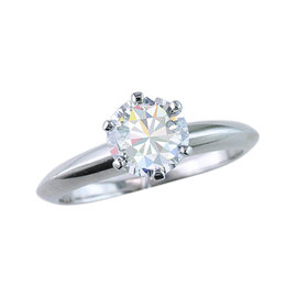 Tiffany & Co. Platinum 1.09ct Diamond Engagement Ring Size 5.5