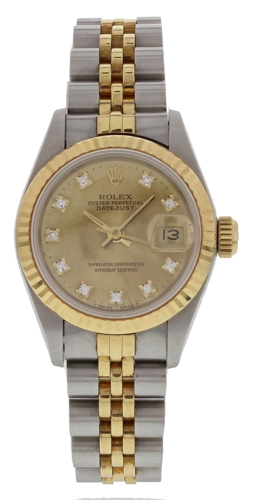 """Image of """"Rolex Oyster Perpetual Datejust 69173G 18K Yellow Gold/Stainless Steel"""""""