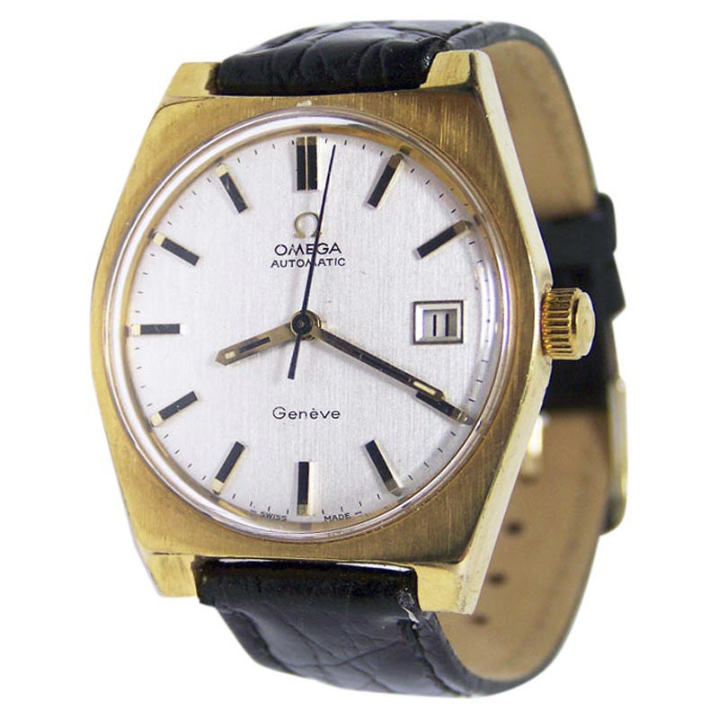 "Image of ""Omega Geneve Stainless Steel Automatic 35mm Mens Watch 1970s"""