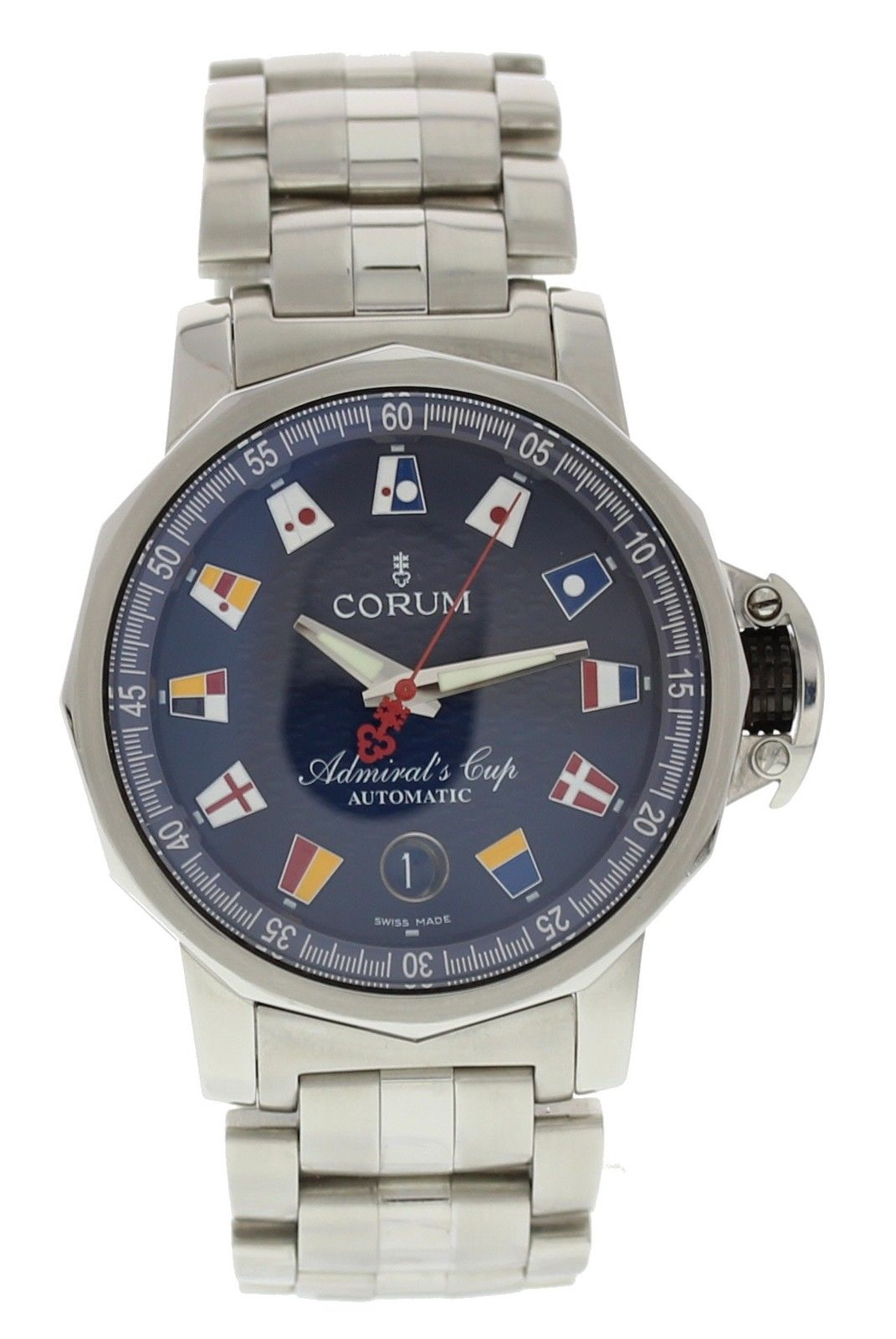 """""""""""Corum Admiral's Cup 082.833.20 Stainless Steel 41mm Mens Watch"""""""""""" 1814378"""
