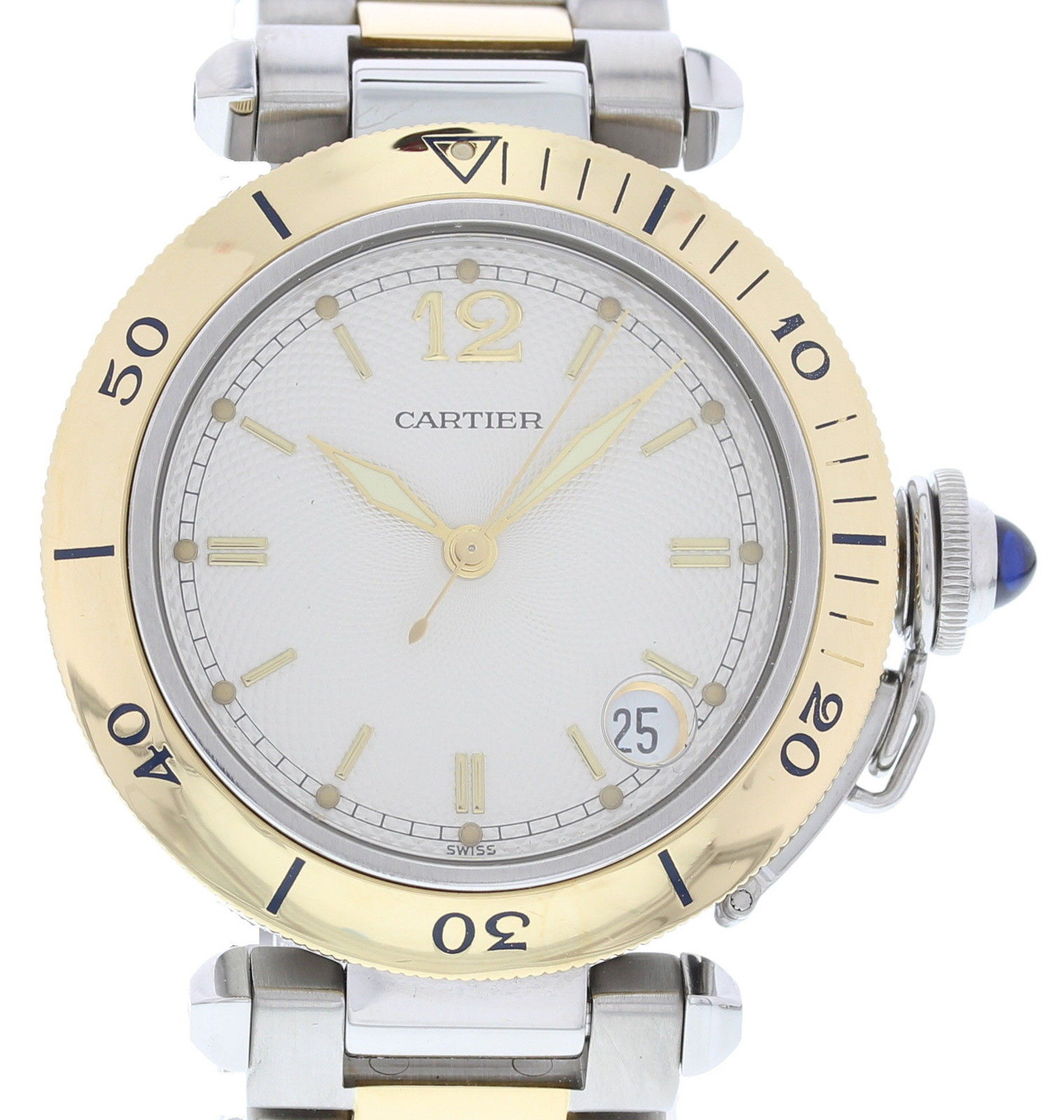 "Image of ""Cartier Pasha 1034 Yellow Gold & Stainless Steel Automatic 36mm Unisex"""