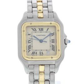 Cartier Panthere 1100 18K Yellow Gold & Stainless Steel Quartz 27mm Womens Watch