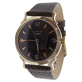 Longines 14K Yellow Gold Vintage 32.7mm Mens Watch 1950s
