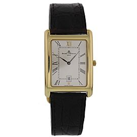 Baume & Mercier Hampton MV045144 18K Yellow Gold & Leather Quartz 26mm Womens Watch