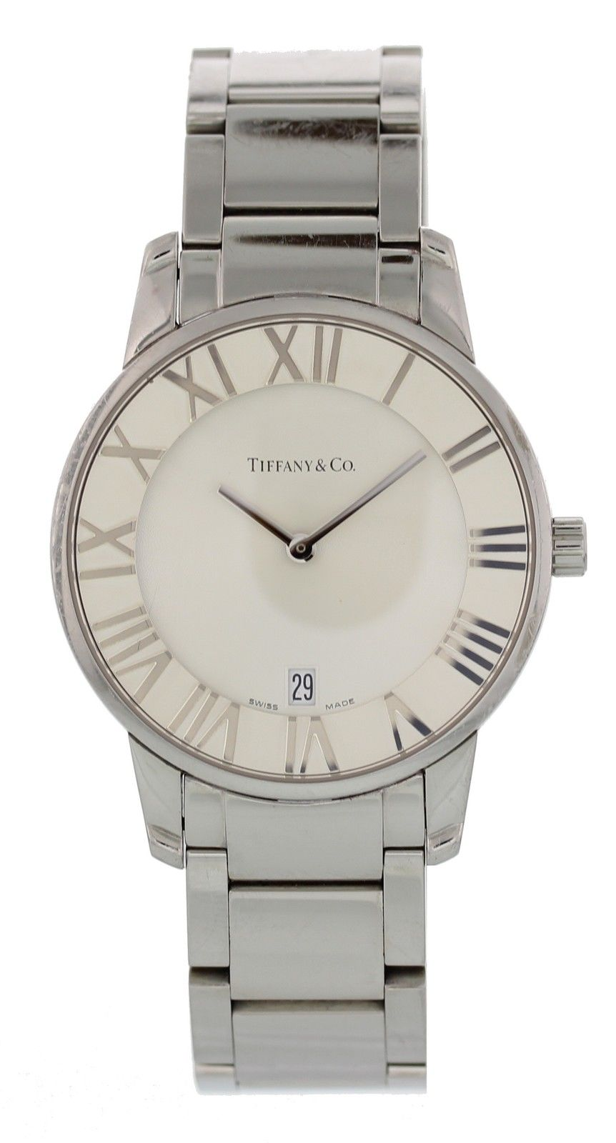 """Image of """"Tiffany & Co. Atlas Stainless Steel Quartz 37mm Mens Watch"""""""