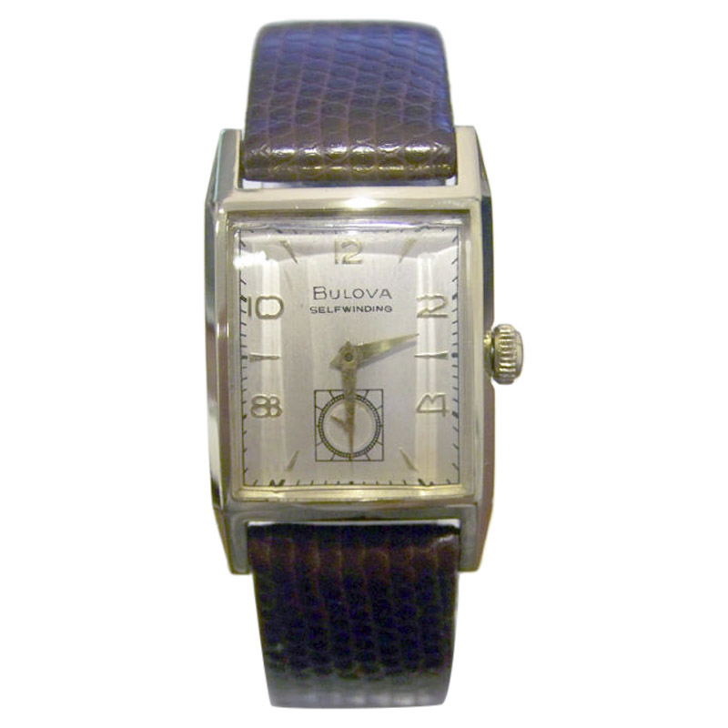 "Image of ""Bulova 14K Yellow Gold Automatic 24.5mm Mens Watch Year 1951"""