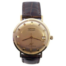Longines Ultra-Chron 18K Yellow Gold Automatic Vintage 34.5mm Mens Watch