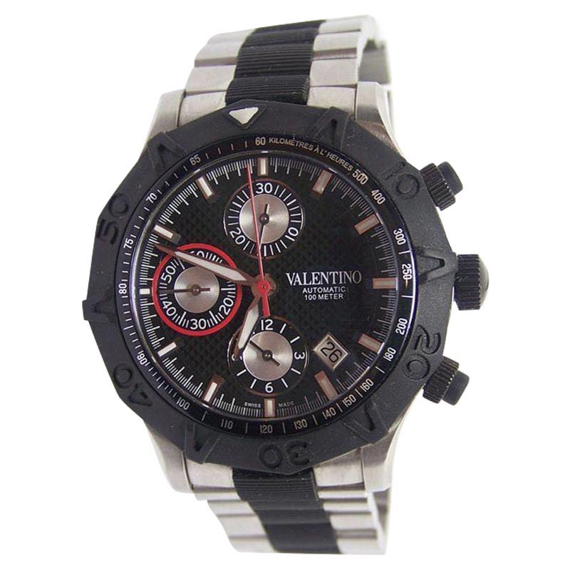 "Image of ""Valentino V40Lca9R909-S09R Stainless Steel / Rubber 45mm Mens Watch"""