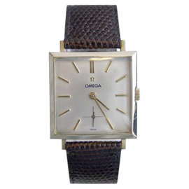 Omega 14K Yellow Gold / Leather Vintage 28mm Mens Watch