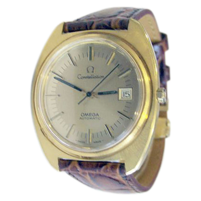"""Image of """"Omega Constellation Stainless Steel Yellow Gold / Leather Vintage 38mm"""""""