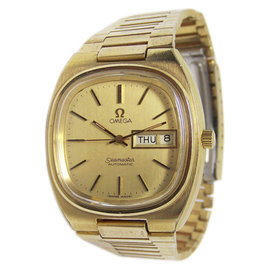 Omega Seamaster Day Date Gold Automatic Vintage 36 mm Mens Watch