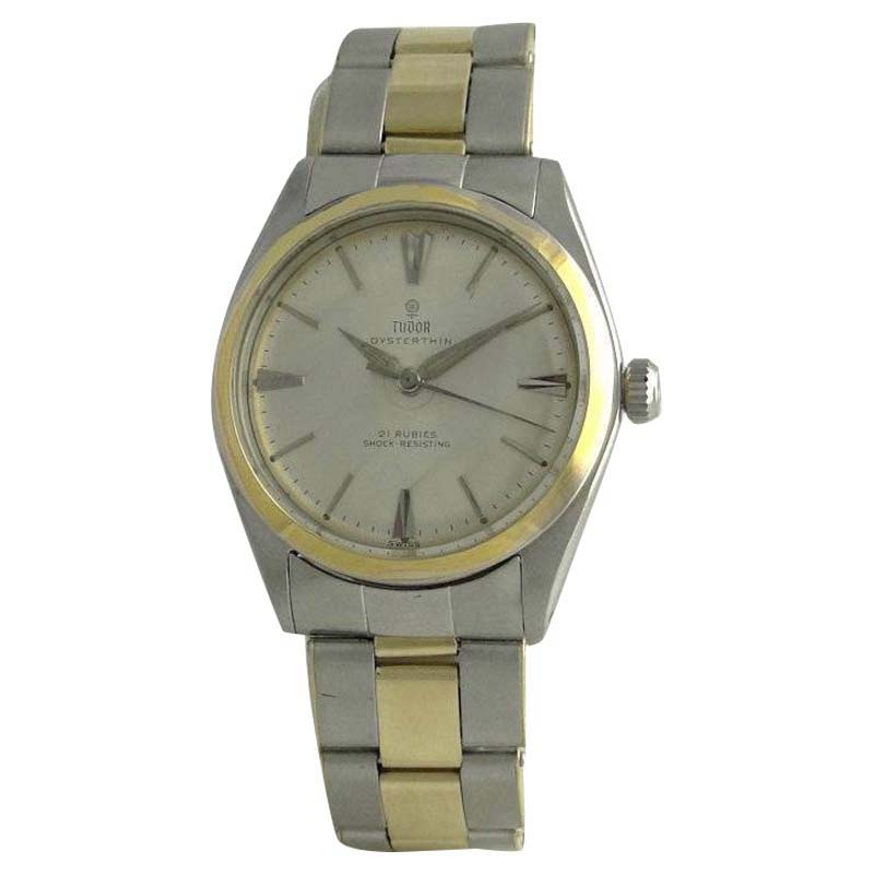 "Image of ""Tudor 7960 14K Yellow Gold & Stainless Steel Manual Vintage 34mm Mens"""