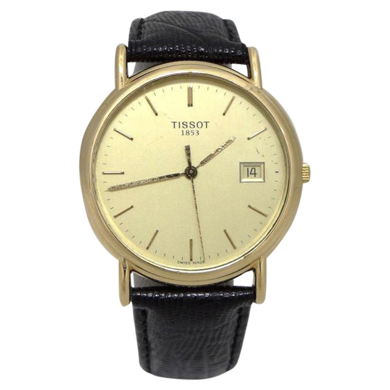 "Image of ""Tissot 18K Yellow Gold / Leather Quartz 33mm Womens Watch"""