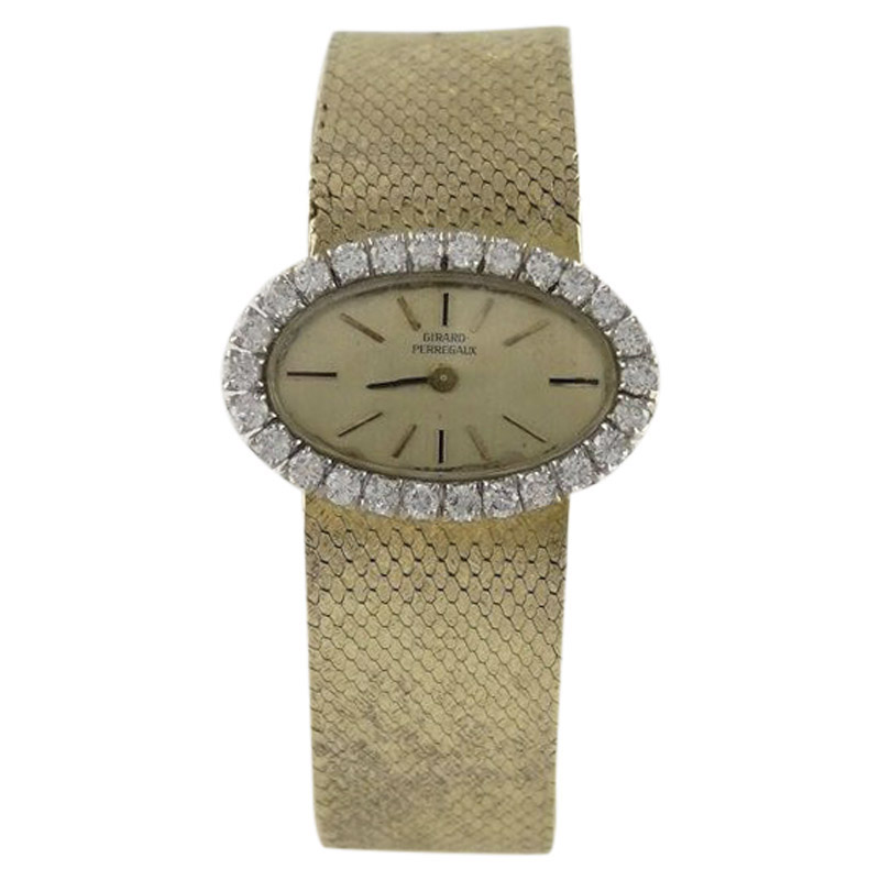 "Image of ""Girard Perregaux 18K Yellow Gold Vintage 26mm Womens Watch"""
