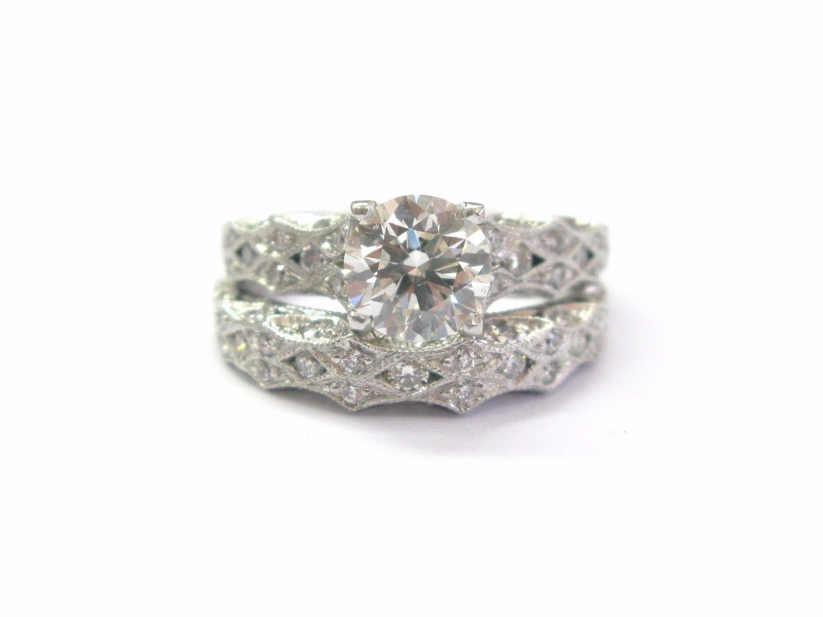 "Image of ""Tacori 18K White Gold with Diamond Engagement Ring Size 4.5"""
