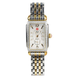 Michele Deco Park MW06M01C5025 Stainless Steel and Gold Diamond Womens Watch