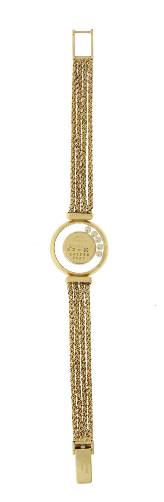 "Image of ""Chopard Happy Diamonds 4097 18K Yellow Gold 27mm Womens Watch"""