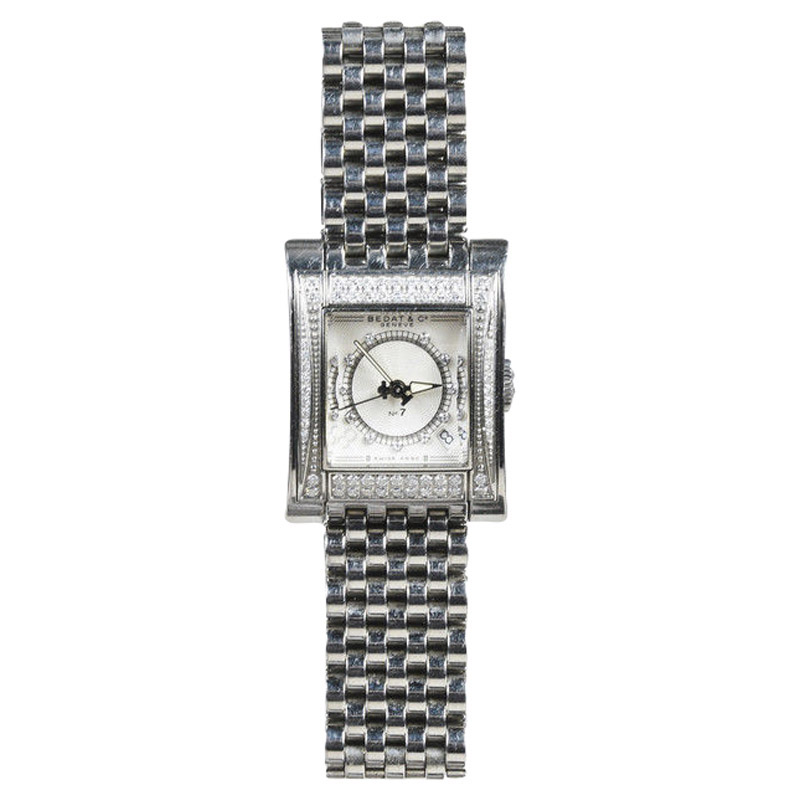 """Image of """"Bedat & Co. No. 7 727 Stainless Steel and Diamond Womens Watch"""""""