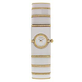 Rado Diastar 963.0468.3 Ceramic and Yellow Gold 16mm Womens Watch