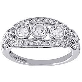 Tiffany & Co. Platinum 0.76ct of Diamond Ring Size 5.25