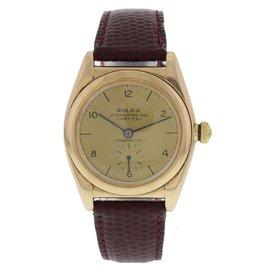 Rolex Bubble 3130 14K Rose Gold Vintage 32mm Mens Watch