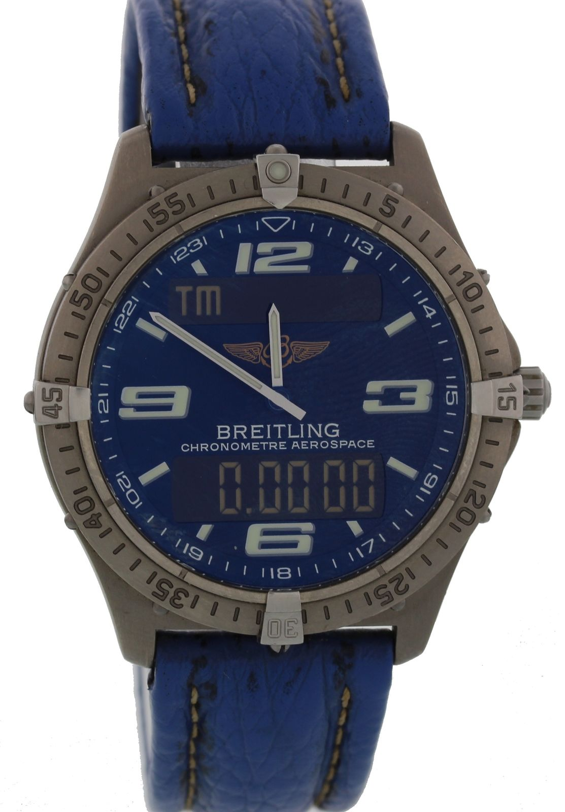 "Image of ""Breitling Aerospace E75362 Stainless Steel Quartz 42mm Mens Watch"""