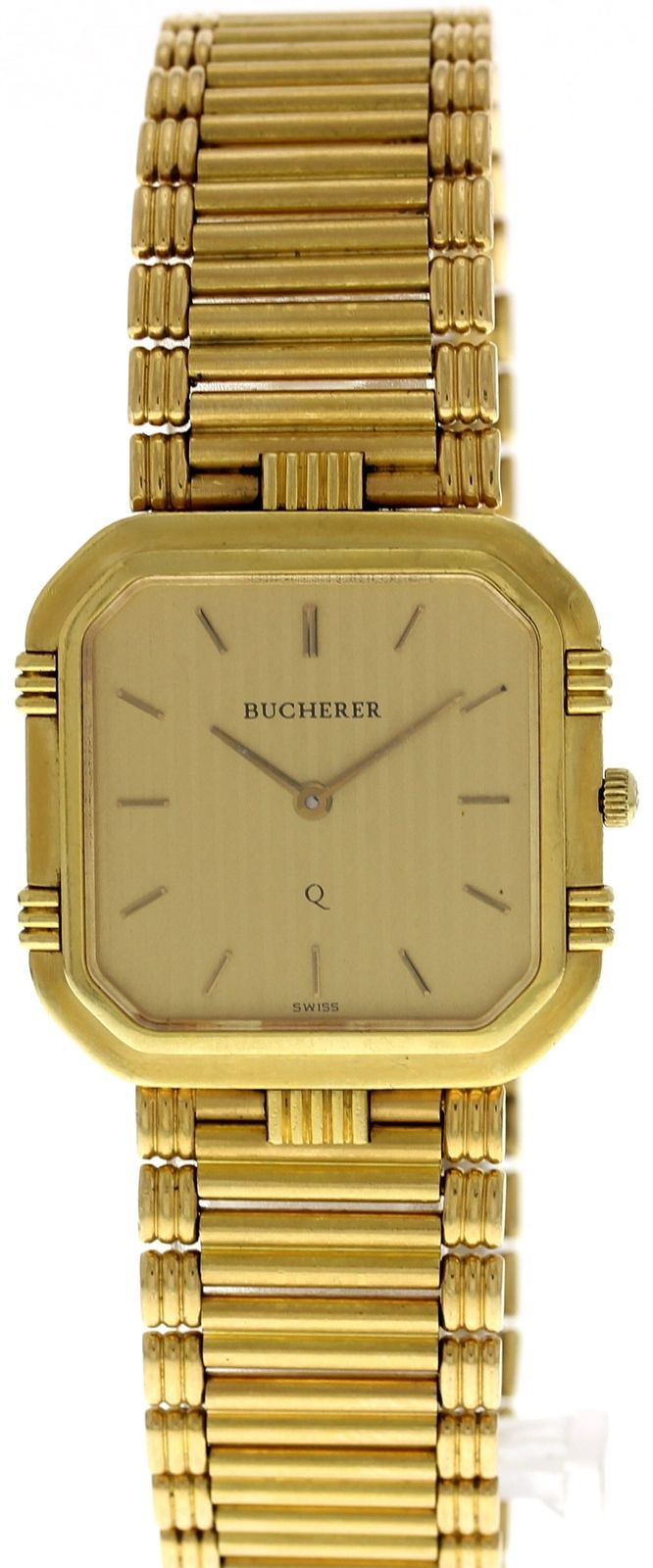 "Image of ""Bucherer 18K Yellow Gold 28mm Mens Vintage Watch"""