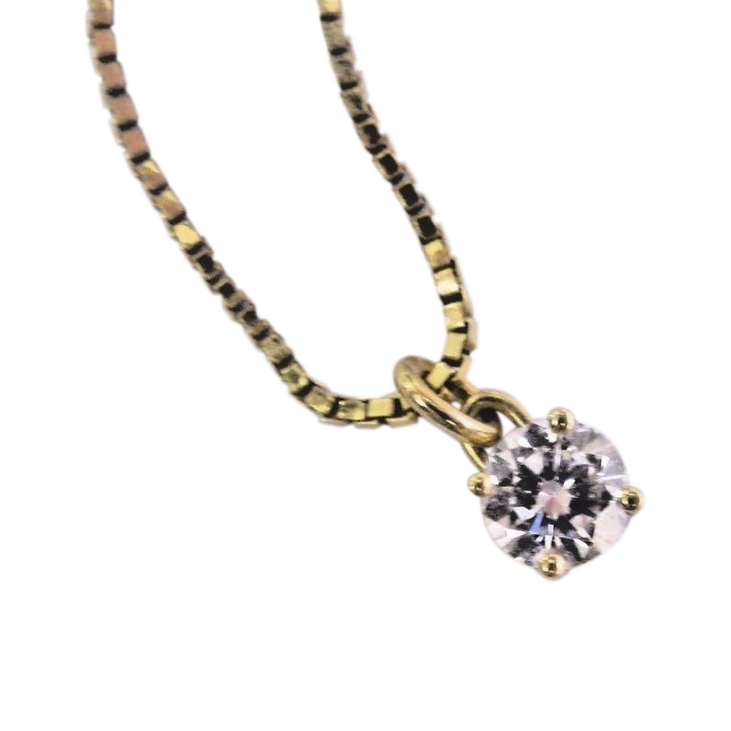 "Image of ""Georg Jenen 18K Yellow Gold with Diamond Necklace"""