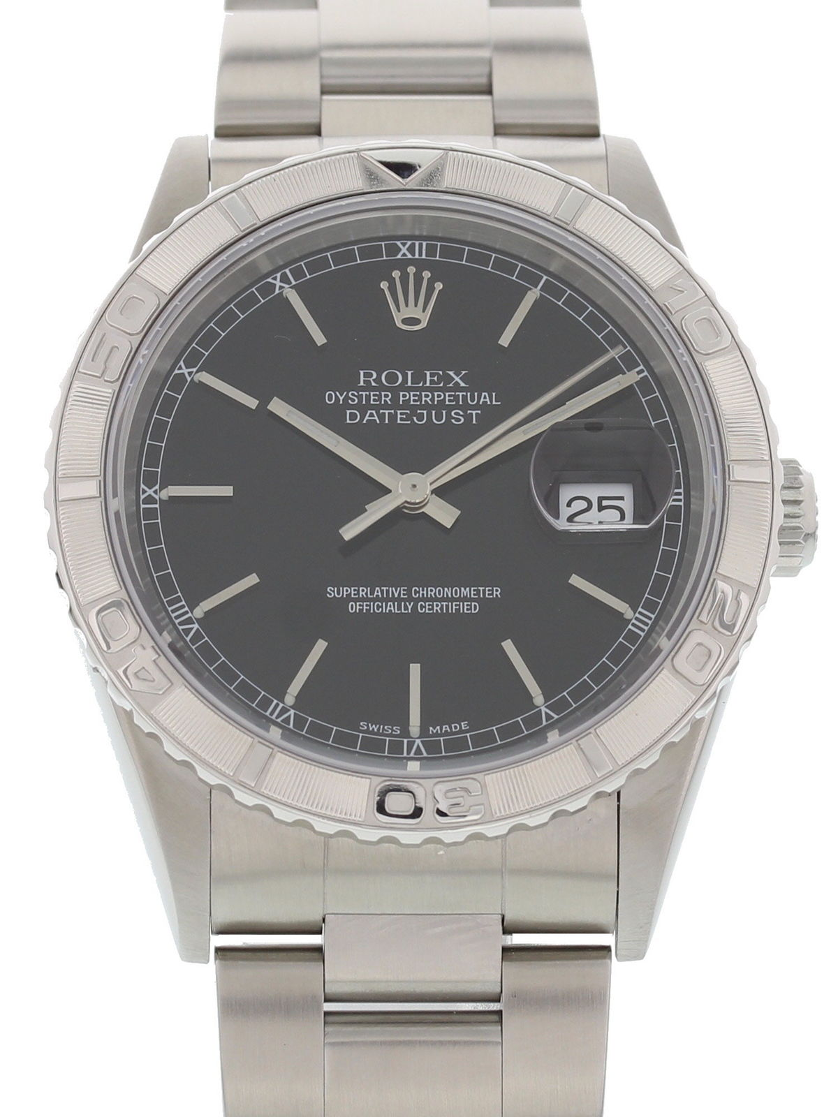 """Image of """"Rolex Datejust 16264 Stainless Steel Black Dial Automatic 36mm Mens"""""""