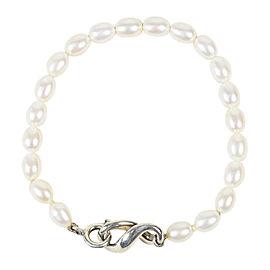 Tiffany & Co. 925 Sterling Silver & Pearls Bracelet
