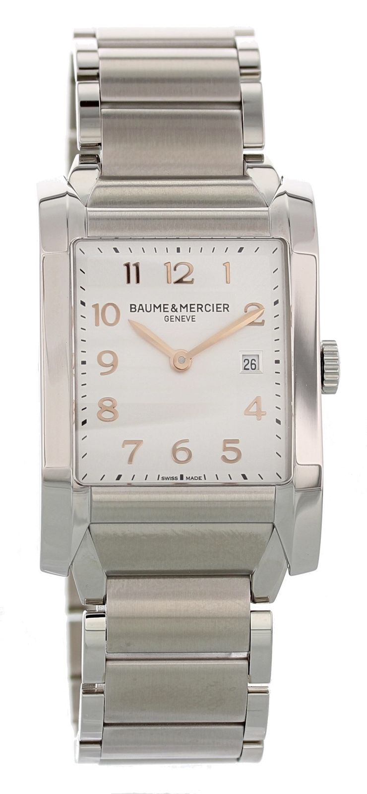 "Image of ""Baume & Mercier Hampton Moa10020 Stainless Steel Quartz 27mm Womens"""