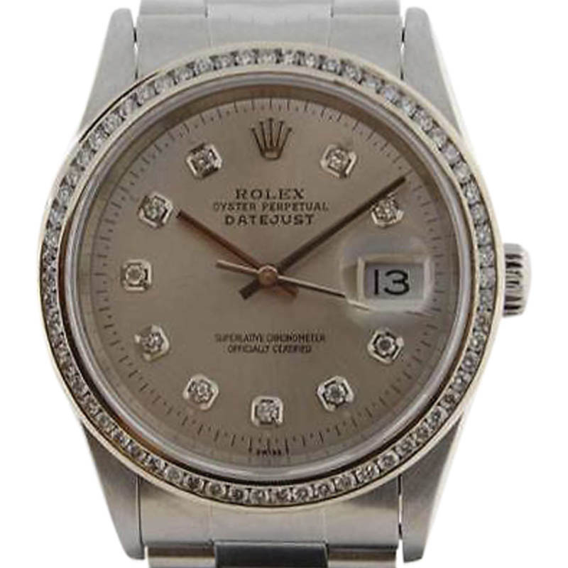 """Image of """"Rolex Datejust 16200 Stainless Steel with Diamond Automatic 36mm"""""""