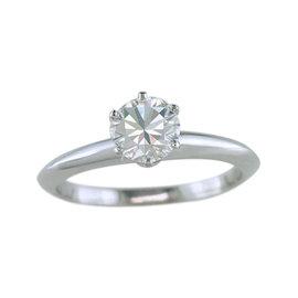 Tiffany & Co. Platinum 0.99ct Diamond Engagement Ring Size 5.5