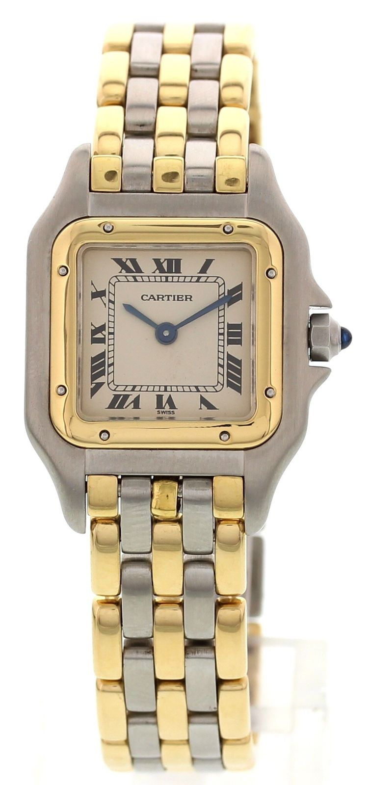 "Image of ""Cartier Panthere 18K Yellow Gold & Stainless Steel 23mm Womens Watch"""