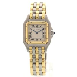 Cartier Panthere 18K Yellow Gold & Stainless Steel 23mm Womens Watch