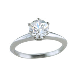 Tiffany & Co. Platinum 1.04ct Diamond Solitaire Engagement Ring Size 6.5
