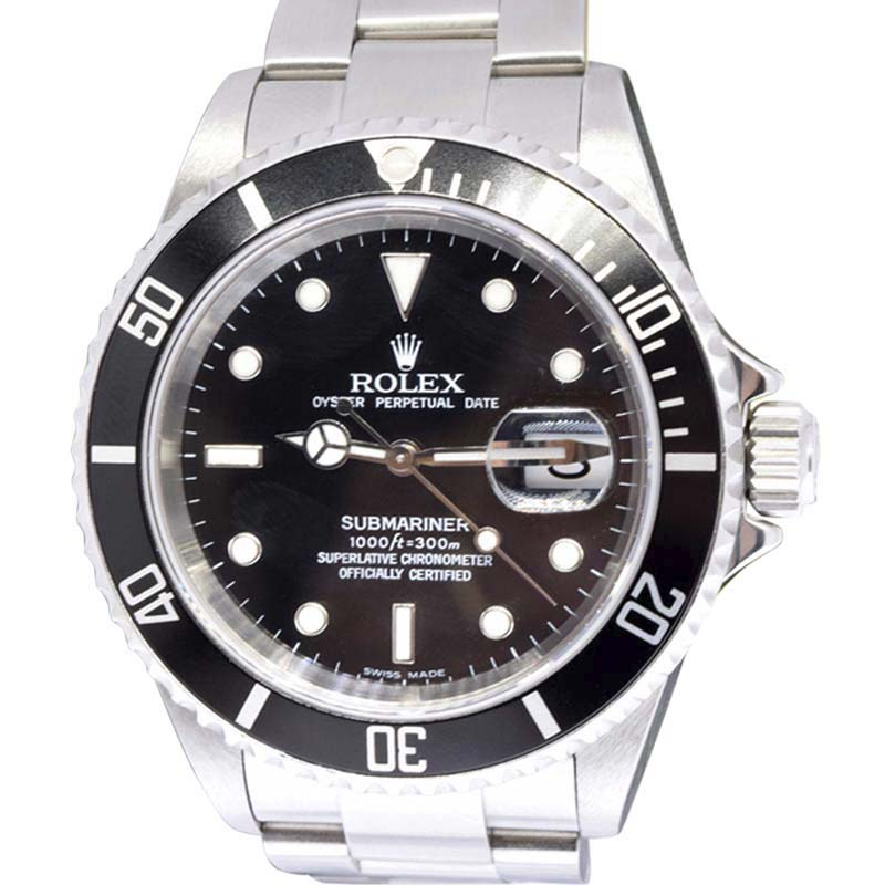 """Image of """"Rolex Submariner 16610 Stainless Steel Black Automatic 40mm Mens Watch"""""""